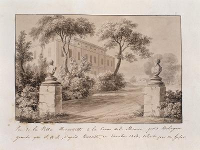View of Villa Bianchetti in Croce Del Biacco Near Bologna--Giclee Print