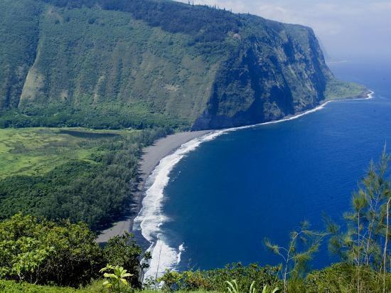View of Waipio Valley, Island of Hawaii (Big Island), Hawaii, USA-Ethel Davies-Photographic Print
