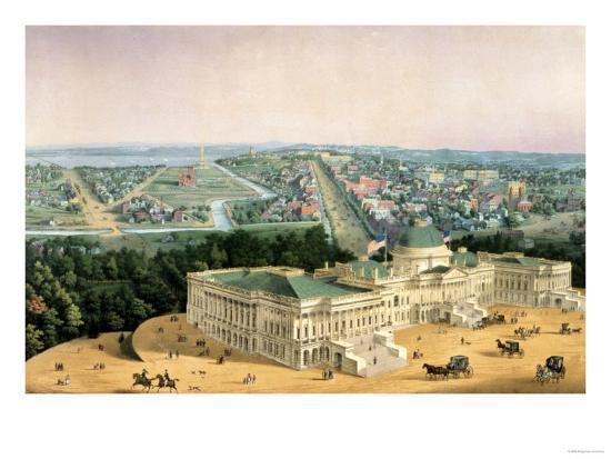 View of Washington, Pub. by E. Sachse & Co., 1852--Giclee Print
