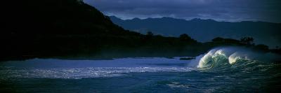 View of Waves in Waimea Bay, Oahu, Hawaii, Usa--Photographic Print