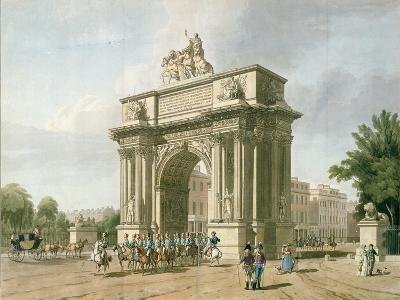 View of Wellington Arch- Atkinson & Baxte-Giclee Print