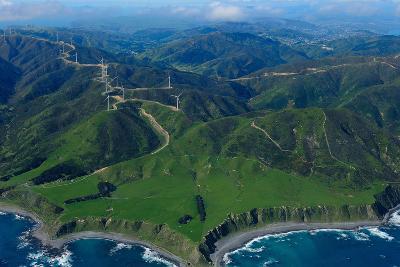 View of Wellington from the Air, North Island, New Zealand, Pacific-Bhaskar Krishnamurthy-Photographic Print