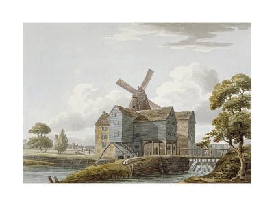 View of West Ham Mills by the River Lea, West Ham, Newham, London, C1800--Giclee Print