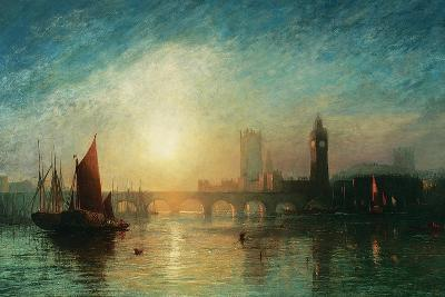 View of Westminster Bridge and the Houses of Parliament-James Francis Danby-Giclee Print
