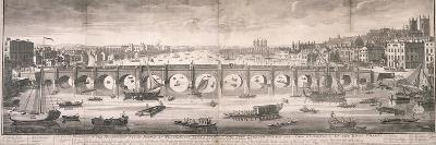 View of Westminster Bridge, London, 1751-T Willson-Giclee Print
