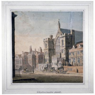 View of Westminster Halll and New Palace Yard, London, C1808--Giclee Print