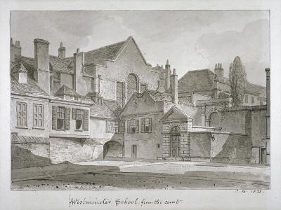 View of Westminster School in Little Dean's Yard, Westminster, London, 1821-John Chessell Buckler-Giclee Print