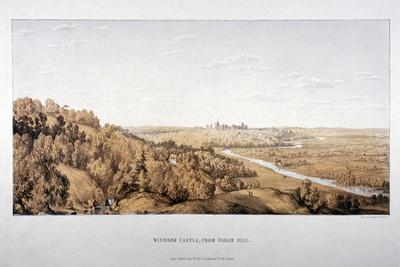 View of Windsor Castle from Egham Hill, Berkshire, 1851-Standidge & Co-Giclee Print