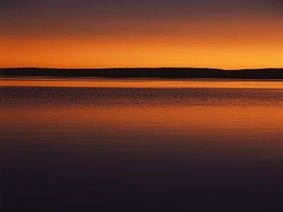 View of Yellowstone Lake at Sunset, Yellowstone National Park, Wyoming, USA-Scott T^ Smith-Photographic Print
