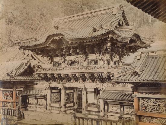 'View of Yomeimon Gate - Shinto Temple Nikko', c1890-1900-Unknown-Photographic Print