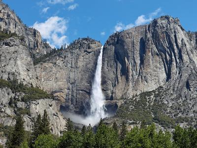 View of Yosemite Falls in Spring, Yosemite National Park, California, USA--Photographic Print
