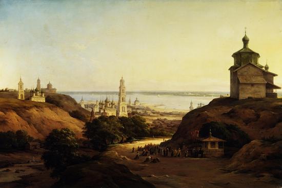 View of Yuryev-Povolzhsky, 1851-Nikanor Grigoryevich Chernetsov-Giclee Print