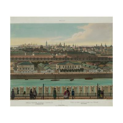 View of Zamoskvorechye from the Kremlin Wall (From a Panoramic View of Moscow in 10 Part), Ca 1848-Philippe Benoist-Giclee Print