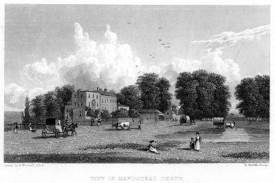 View on Hampstead Heath, London, 19th Century-E Finden-Giclee Print