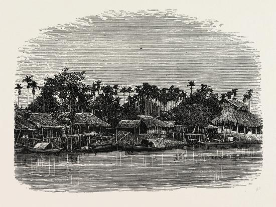 View on the Banks of the Mesap, Cambodia--Giclee Print