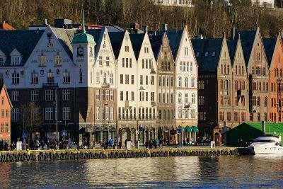 View on the Harbour in Bryygen Area, Bergen, Hordaland, Norway, Scandinavia, Europe-Robert Harding-Photographic Print