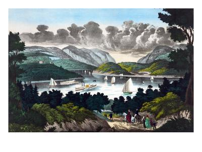 View on the Hudson - West Point- John Walsh & Co-Art Print