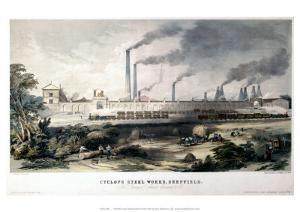 View on the Midland Railway, Cyclops Steel Works, Sheffield, c.1845