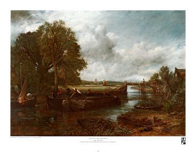 View on the Stour near Dedham-John Constable-Art Print