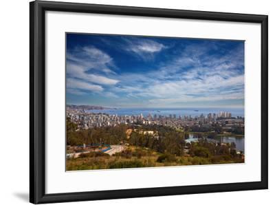 View on Vina Del Mar and Valparaiso, Chile-Nataliya Hora-Framed Photographic Print