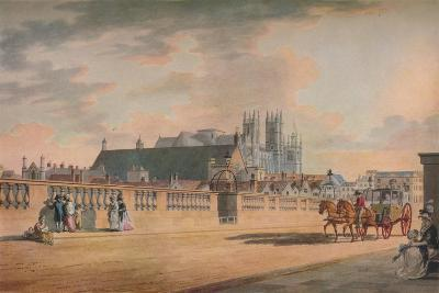 View on Westminster Bridge, 1792-Thomas Malton II-Giclee Print