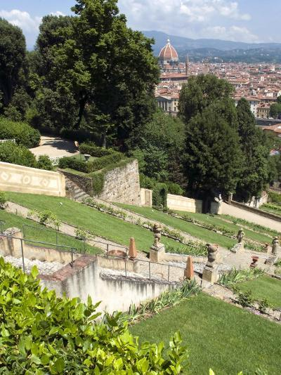 View Out over Florence from the Bardini Garden, the Bardini Garden, Florence, Tuscany-Nico Tondini-Photographic Print