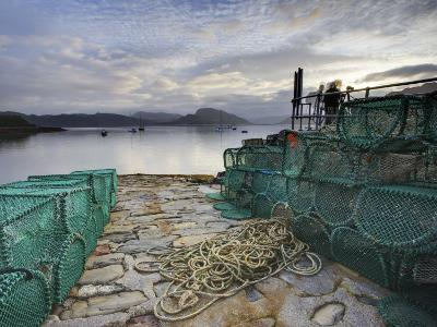 View Out to Sea from Stone Slipway at Dawn, with Lobster Pots and Ropes in Foreground, Plokton-Lee Frost-Photographic Print