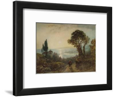 'View over a harbour', c1859, (1938)-William Wyld-Framed Giclee Print