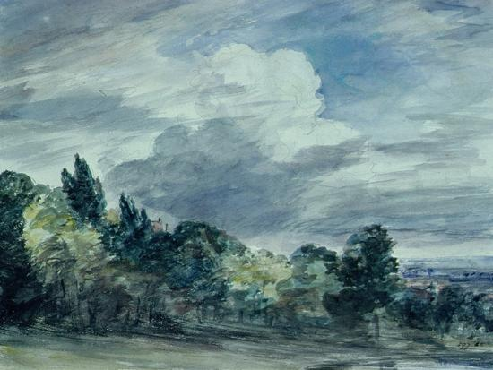 View over a Wide Landscape, with Trees in the Foreground, September 1832-John Constable-Giclee Print