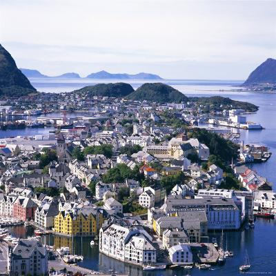 View Over Alesund, More Og Romsdal, Norway, Scandinavia, Europe-Geoff Renner-Photographic Print