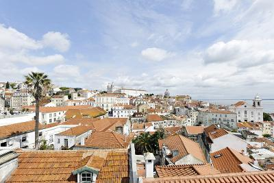 View over Alfama District and S? Cathedral-Axel Schmies-Photographic Print