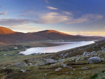 View over Ardvourlie, Borglass and Loch Seaforth, North Harris, Outer Hebrides, Scotland, UK-Patrick Dieudonne-Photographic Print