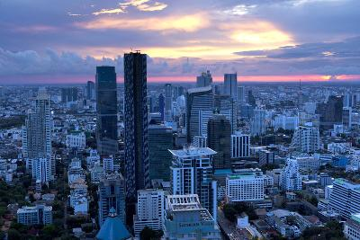 View over Bangkok at Sunset from the Vertigo Bar on the Roof the Banyan Tree Hotel-Lee Frost-Photographic Print