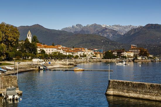 View over Baveno Town, Lake Maggiore, Italian Lakes, Piedmont, Italy, Europe-Yadid Levy-Photographic Print
