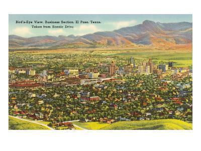 View over Business District, El Paso, Texas--Art Print