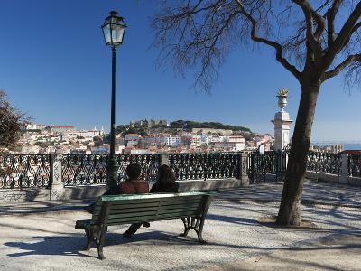 View over City from Miradouro de Sao Pedro de Alcantara, Bairro Alto, Lisbon, Portugal, Europe-Stuart Black-Photographic Print