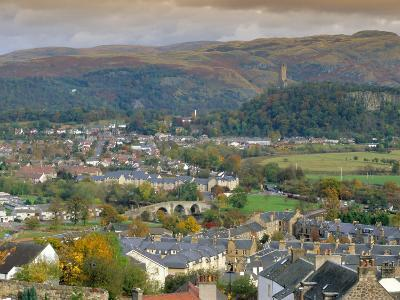 View Over City, Stirling, Scotland, UK, Europe-Gavin Hellier-Photographic Print
