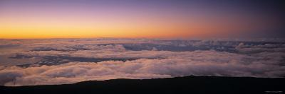 View over Clouds at Dawn-Walter Bibikow-Photographic Print