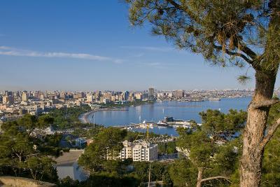 View over Coast of Baku, Baku Bay, Azerbaijan-Michael Runkel-Photographic Print