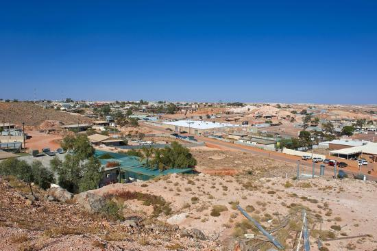 View over Coober Pedy, South Australia, Australia, Pacific-Michael Runkel-Photographic Print