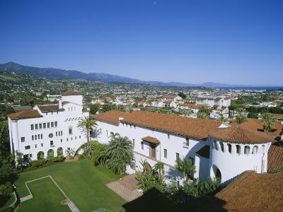 View Over Courthouse Towards the Ocean, Santa Barbara, California, USA-Adrian Neville-Photographic Print