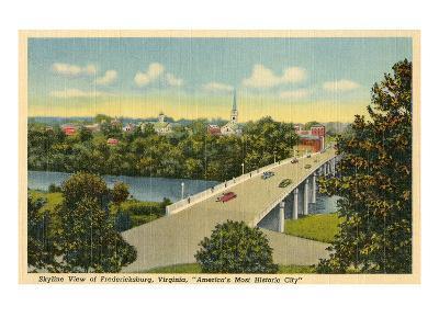 View over Fredricksburg, Virginia--Art Print