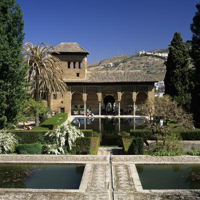 View over Gardens, Alhambra Palace, UNESCO World Heritage Site, Granada, Andalucia, Spain, Europe-Stuart Black-Photographic Print