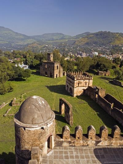 View Over Gonder and the Royal Enclosure from the Top of Fasiladas' Palace, Ethiopia-Gavin Hellier-Photographic Print