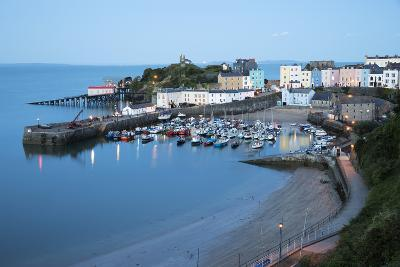 View over Harbour and Castle, Tenby, Carmarthen Bay, Pembrokeshire, Wales, United Kingdom, Europe-Stuart Black-Photographic Print