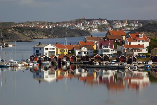 View over Harbour and Houses, Stocken, Orust, Bohuslan Coast, Southwest Sweden, Sweden, Europe-Stuart Black-Photographic Print