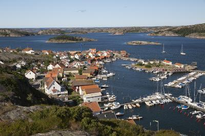 View over Harbour and Town from Vetteberget Cliff, Sweden-Stuart Black-Photographic Print