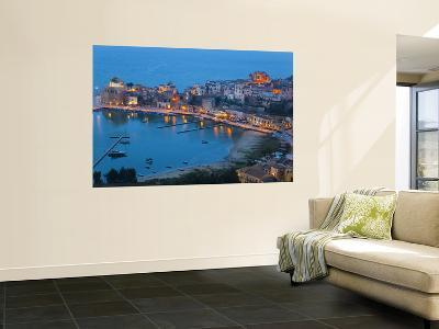View over Harbour at Dusk, Castellammare Del Golfo, Sicily, Italy-Peter Adams-Wall Mural