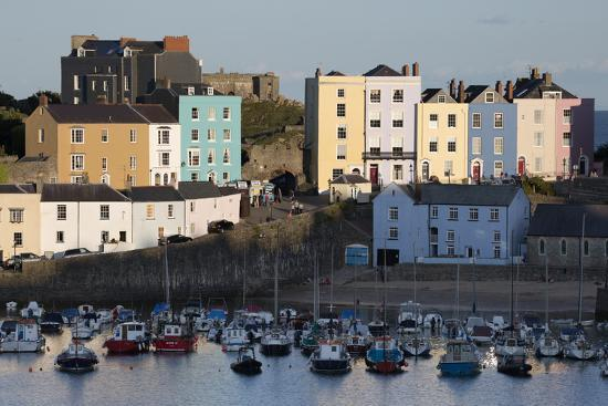View over Harbour, Tenby, Carmarthen Bay, Pembrokeshire, Wales, United Kingdom, Europe-Stuart Black-Photographic Print