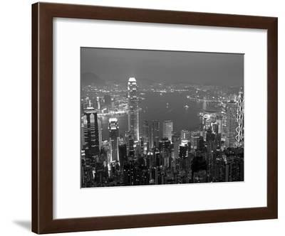 View over Hong Kong from Victoria Peak-Andrew Watson-Framed Photographic Print